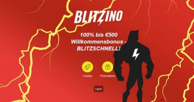 Blitzino - bonus 100% hingga 500 euro