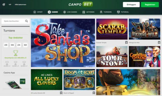 Campobet: Bonus 120% hingga 500 EUR & 200 putaran gratis