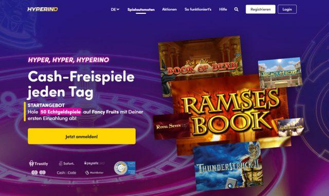 Hyperino online Spielbank