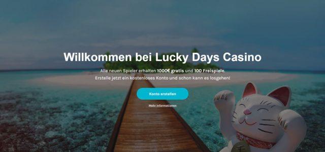 lucky-days-casino Semua pemain baru mendapatkan € 1000 gratis dan 100 putaran gratis.