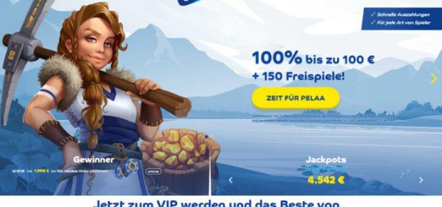 Pelaa - sekarang bonus 100% & 150 putaran gratis