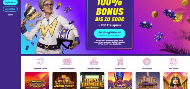 Wildz: Hol dir 200 Freispiele und 100% Bonus bis 500€
